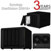 Synology Disk Station DS918+ 4 Bay Desktop NAS Enclosure   For Growing Businesses