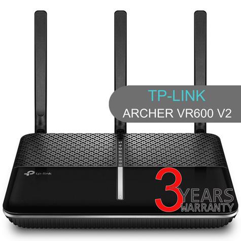 TP-Link ARCHER VR600 V2|AC1600 Wireless Gigabit VDSL/ADSL Modem Router|1.6Gbps Wi-Fi Thumbnail 1