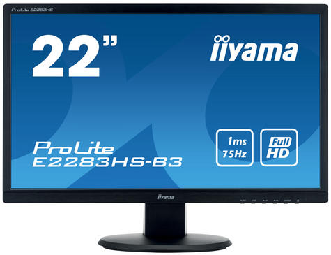 Iiyama ProLite LED Monitor | 22'' Full HD 1080p Display Screen | For Mac Computer | Black Thumbnail 2