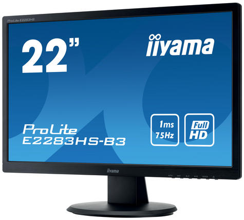 Iiyama ProLite LED Monitor | 22'' Full HD 1080p Display Screen | For Mac Computer | Black Thumbnail 4