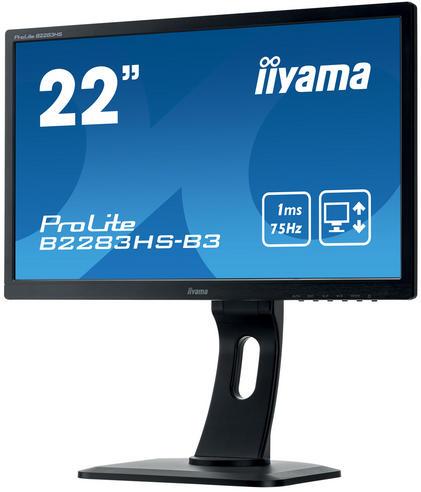 Iiyama ProLite LED Monitor | 22'' Full HD Display | Height Adjustable | For Mac Computers Thumbnail 4