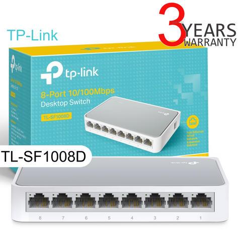 TP-Link TL-SF1008D V10|8-Ports 10/100Mbps Desktop Switch|IEEE 802.3x|Plug & Play Thumbnail 1