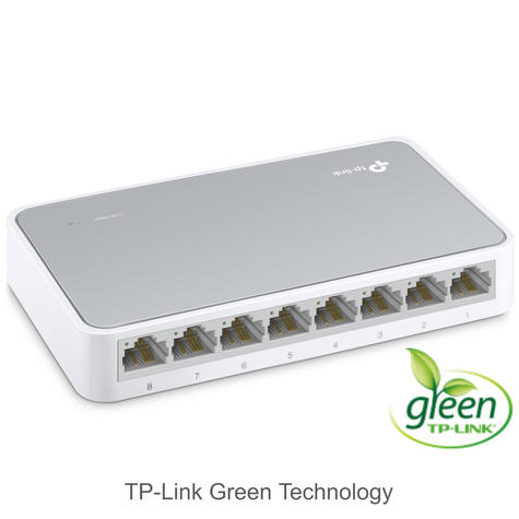 TP-Link TL-SF1008D V10|8-Ports 10/100Mbps Desktop Switch|IEEE 802.3x|Plug & Play Thumbnail 3