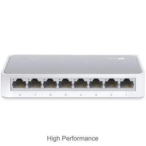 TP-Link TL-SF1008D V10|8-Ports 10/100Mbps Desktop Switch|IEEE 802.3x|Plug & Play Thumbnail 4