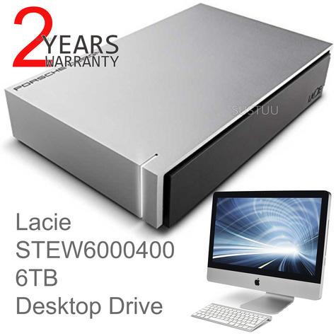 Lacie Porsche Design Desktop External Hard Drive | 6TB | USB 3.0 | For PC & Mac | Silver Thumbnail 1