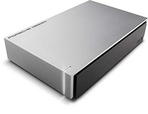 Lacie Porsche Design Desktop External Hard Drive | 6TB | USB 3.0 | For PC & Mac | Silver Thumbnail 2