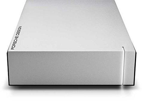 Lacie Porsche Design Desktop External Hard Drive | 6TB | USB 3.0 | For PC & Mac | Silver Thumbnail 4