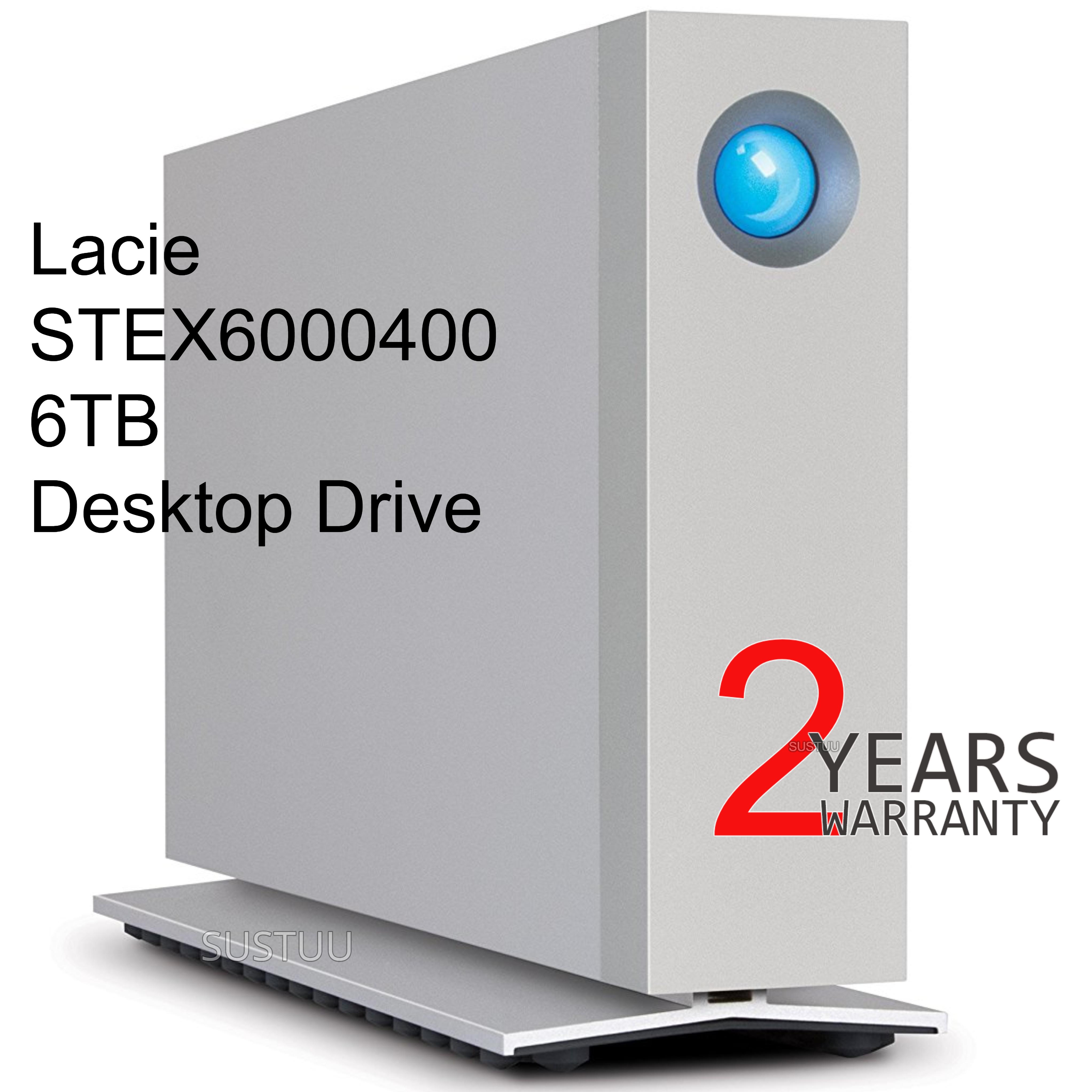 Lacie Desktop External Hard Drive | 6 TB | Dual Thunderbolt 2 & USB 3.0 | For PC & Mac