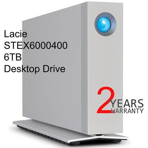 Lacie Desktop External Hard Drive | 6 TB | Dual Thunderbolt 2 & USB 3.0 | For PC & Mac Thumbnail 1