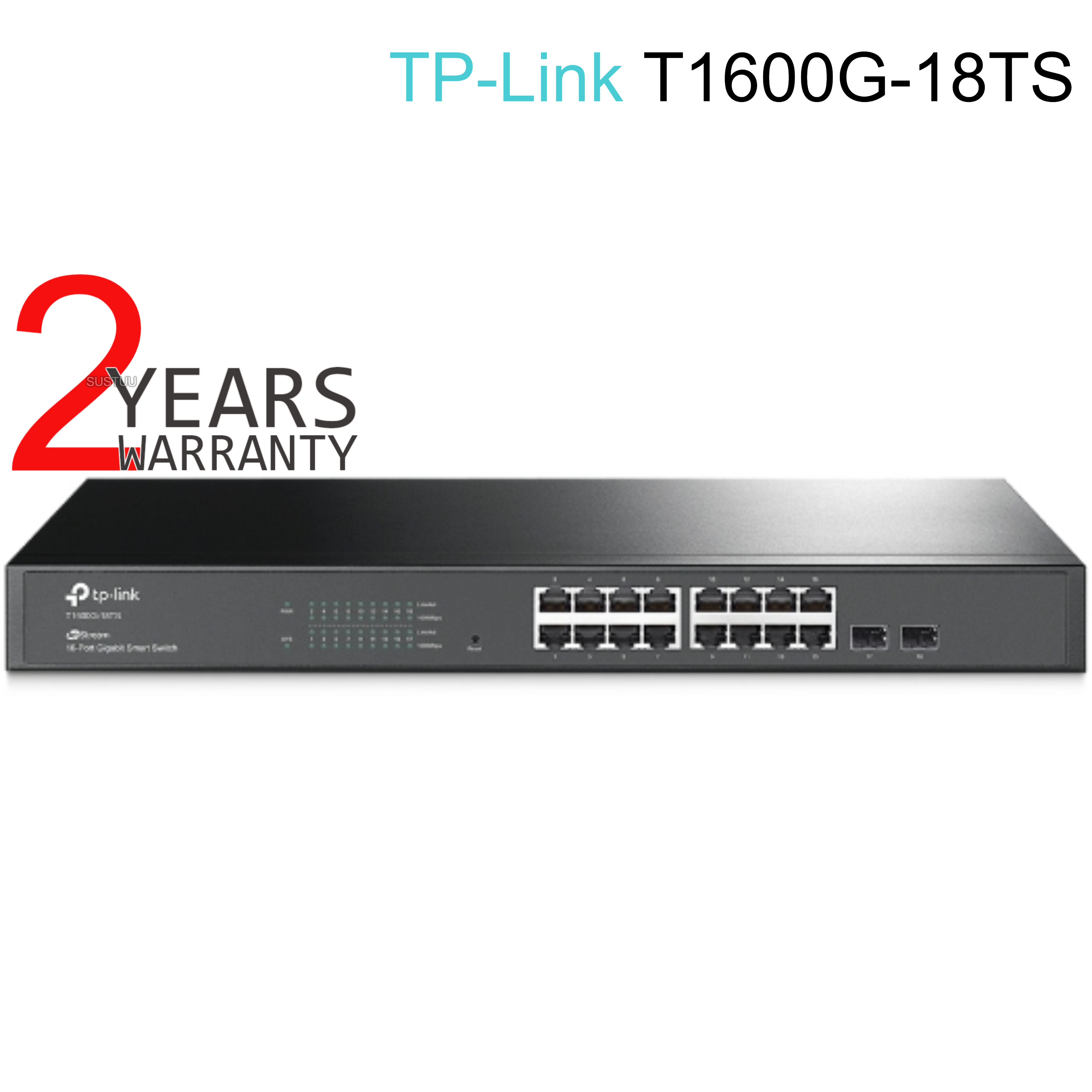 TP-Link T1600G-18TS|JetStream16-Port Gigabit Smart Switch with 2 SFP Slot|IPv6 Support