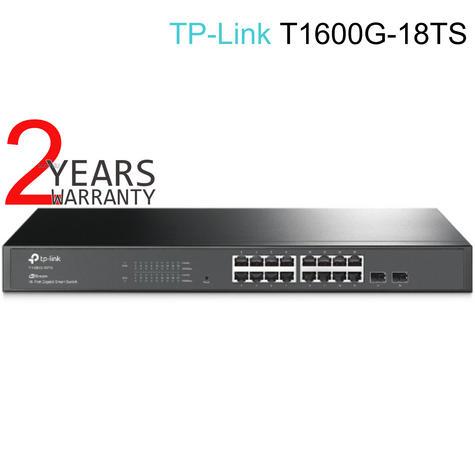 TP-Link T1600G-18TS|JetStream16-Port Gigabit Smart Switch with 2 SFP Slot|IPv6 Support Thumbnail 1
