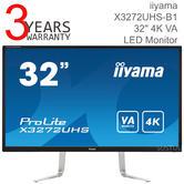 Iiyama ProLite 32'' LED Monitor | 4K Ultra HD Display | VA Panel | For Mac Computer | Black