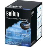 Braun CCR3 Shaver Cleaner|790cc|590cc|570cc|390cc|Series: 3, 5, 7, 9|Pack of 3|