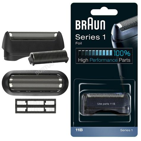 Braun COM11B Replacement Foil & Cutter Pack|Series 1-130 & 1-150 Shaver|Black Thumbnail 1