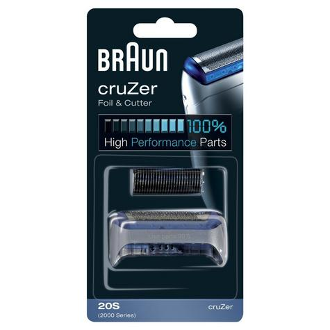 Braun BRACOM20S Foil & Cutter Pack for CruZer Shavers Fit - 2865/2765 2876/2776 Thumbnail 2