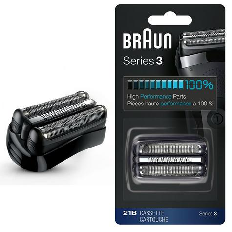 Braun 21B Series 3 Electric Shaver Replacement Foil and Cassette Cartridge - Blk Thumbnail 1