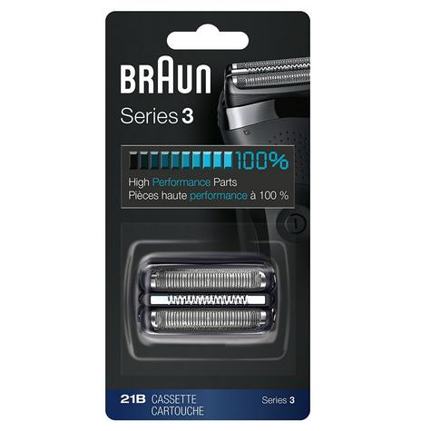 Braun 21B Series 3 Electric Shaver Replacement Foil and Cassette Cartridge - Blk Thumbnail 2