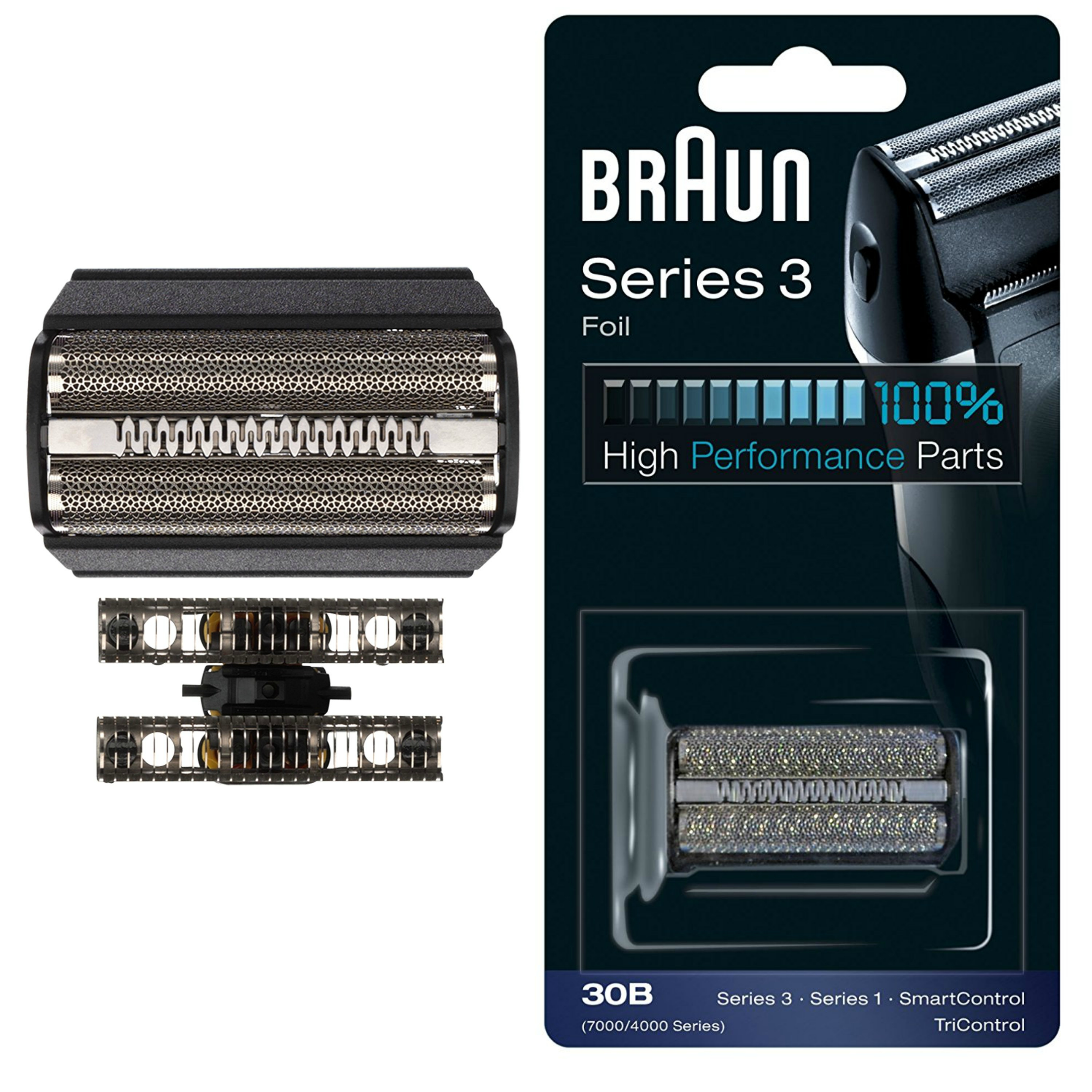 Braun 30B Replacement Black Foil|Series 3|Series 1|SmartControl and TriControl|