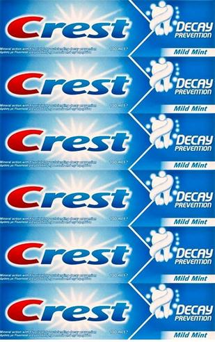 Crest Decay Prevention Mint Toothpaste 100ml x6 Packs | Cavity Protection | CREDECAY Thumbnail 2