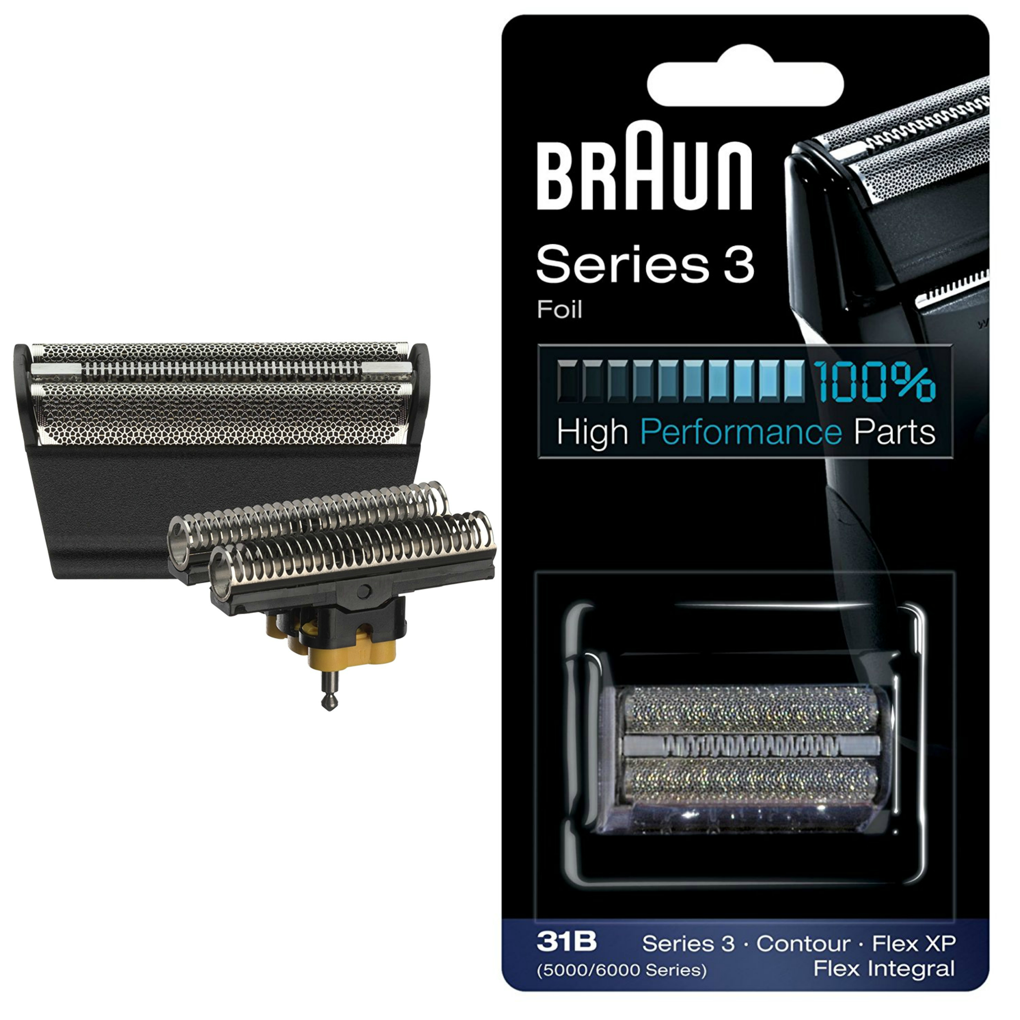 Braun 31B Replacement Foil & Cutter|Series 3(380,360)|Contour|Flex XP & Integral