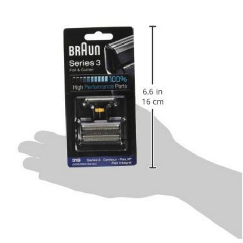 Braun 31B Replacement Foil & Cutter|Series 3(380,360)|Contour|Flex XP & Integral Thumbnail 6