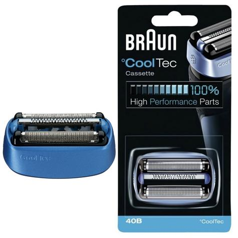 Braun 40B Replacement Foil Cutter Head Cassette Cartridge for Cool Tech Shavers Thumbnail 1