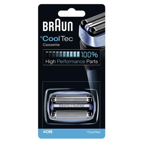 Braun 40B Replacement Foil Cutter Head Cassette Cartridge for Cool Tech Shavers Thumbnail 5