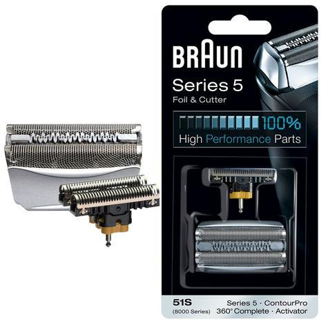 Braun 51S Shaver Foil & Cutter - 8000 Series ContourPro 360°Complete & Activator Thumbnail 1