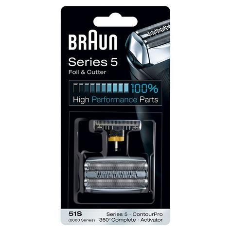 Braun 51S Shaver Foil & Cutter - 8000 Series ContourPro 360°Complete & Activator Thumbnail 5