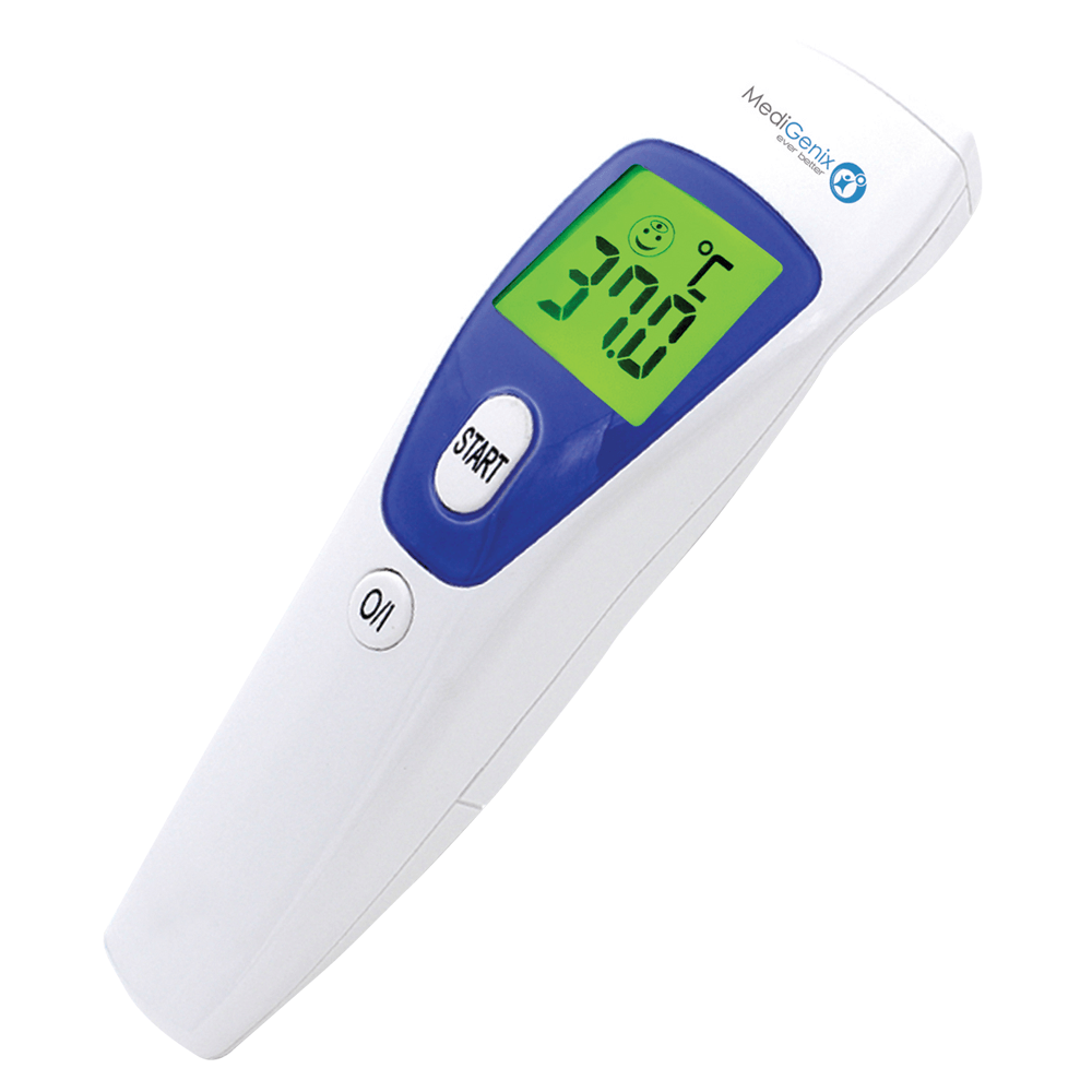 Medigenix Non Contact InfraRed Thermometer | 1 Second Response | Fever Alarm | MGX027