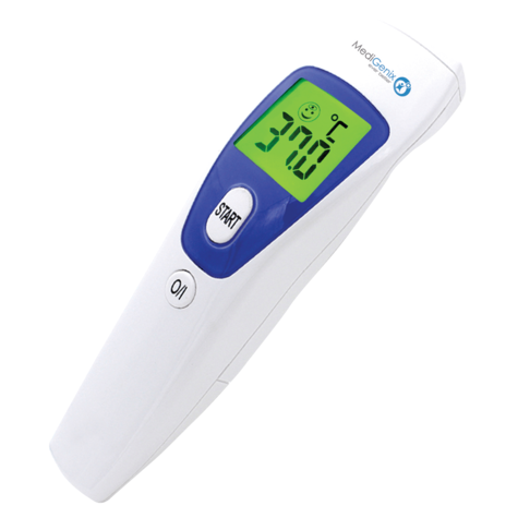 Medigenix Non Contact InfraRed Thermometer | 1 Second Response | Fever Alarm | MGX027  Thumbnail 1