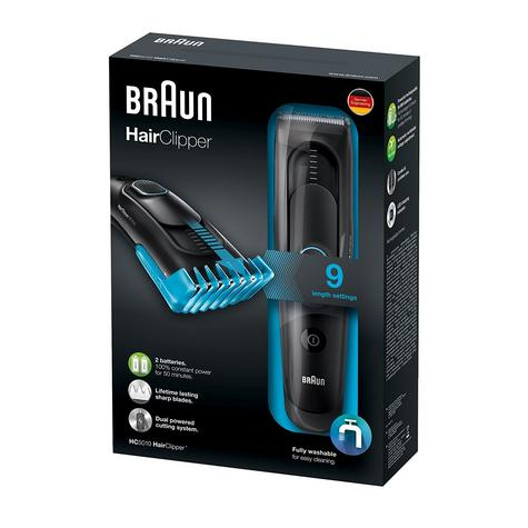 Braun Cordless Hair Clipper/Treamer | Washable & Rechargeable | 9 Length Settings | HC5010 Thumbnail 6