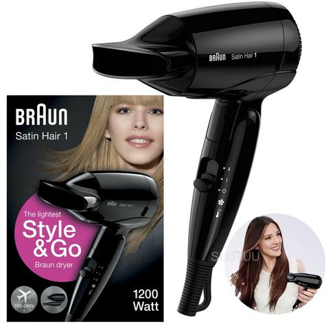 Braun Style & Go Satin Travel Hair Dryer | Infrared Heat Protect | Women | 1200W | HD130 Thumbnail 1