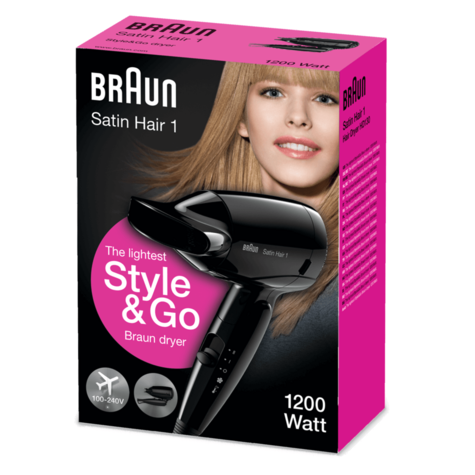 Braun Style & Go Satin Travel Hair Dryer | Infrared Heat Protect | Women | 1200W | HD130 Thumbnail 6