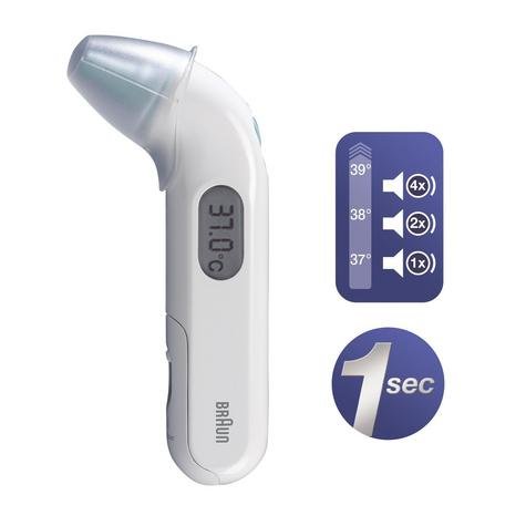 Braun Thermoscan 3Compact Infrared Ear Thermometer | Audio Fever Indicator | IRT3030 Thumbnail 2