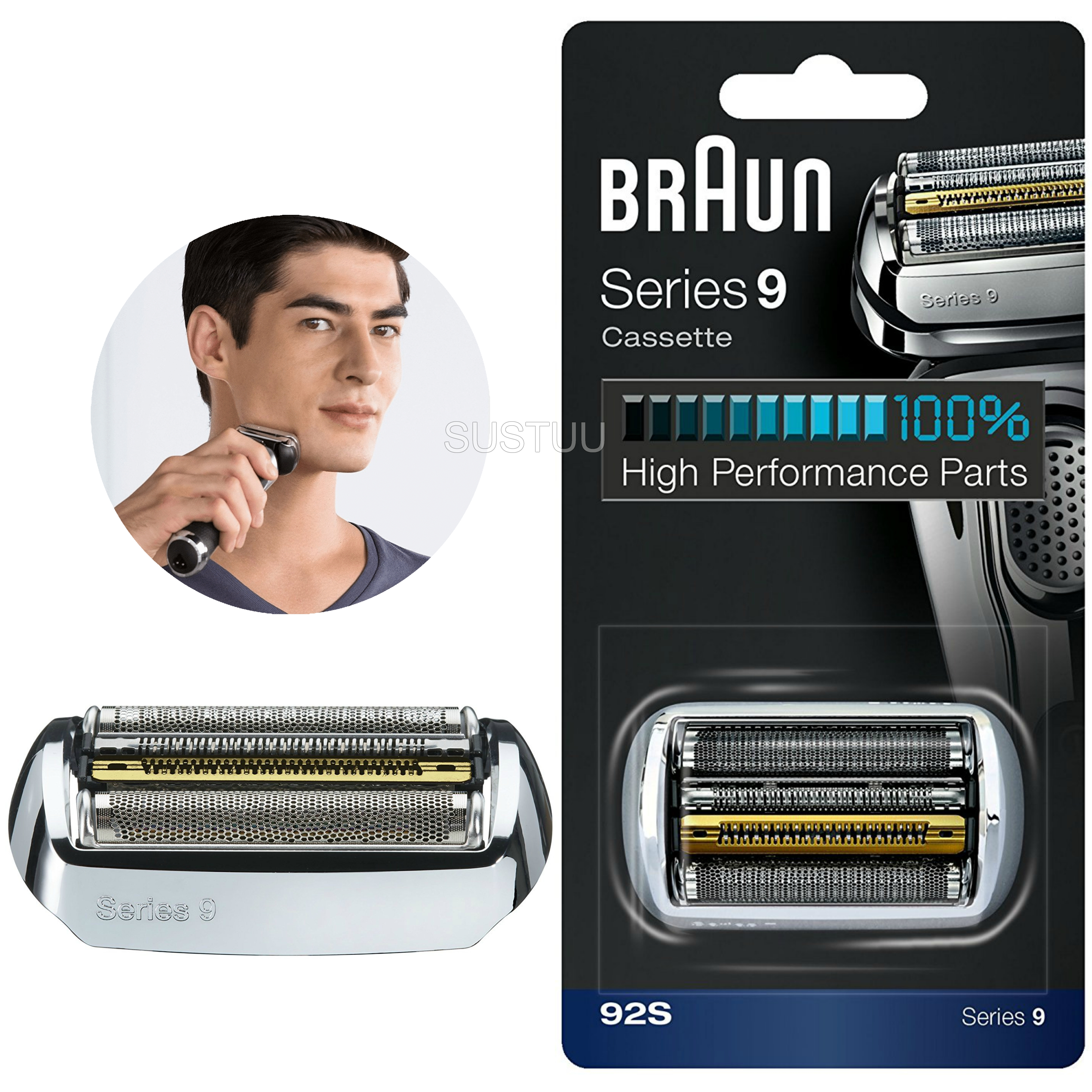Braun Series 9 Foil and Cassette Cartridge Head | Shaver Replacement Part | COM92S