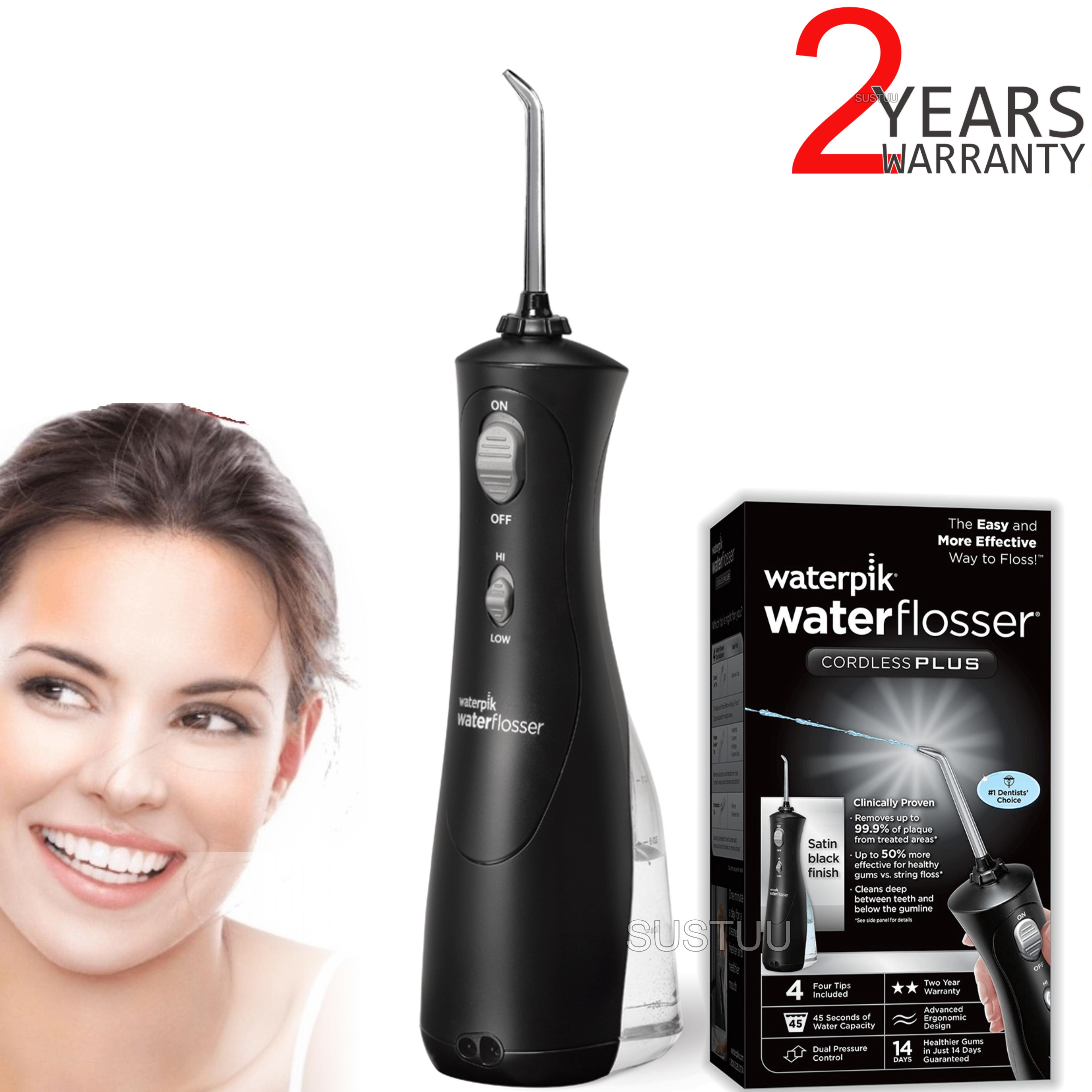 Waterpik Ultra Cordless Plus Dental Water Flosser Jet | Teeth Flossing | Black | WP462