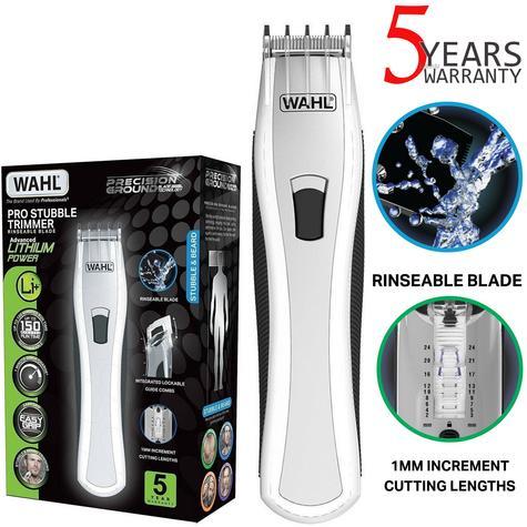 Wahl Men's Lithium Pro Stubble Hair Trimmer|Rinseable Blade|Cordless|85413-809? Thumbnail 1