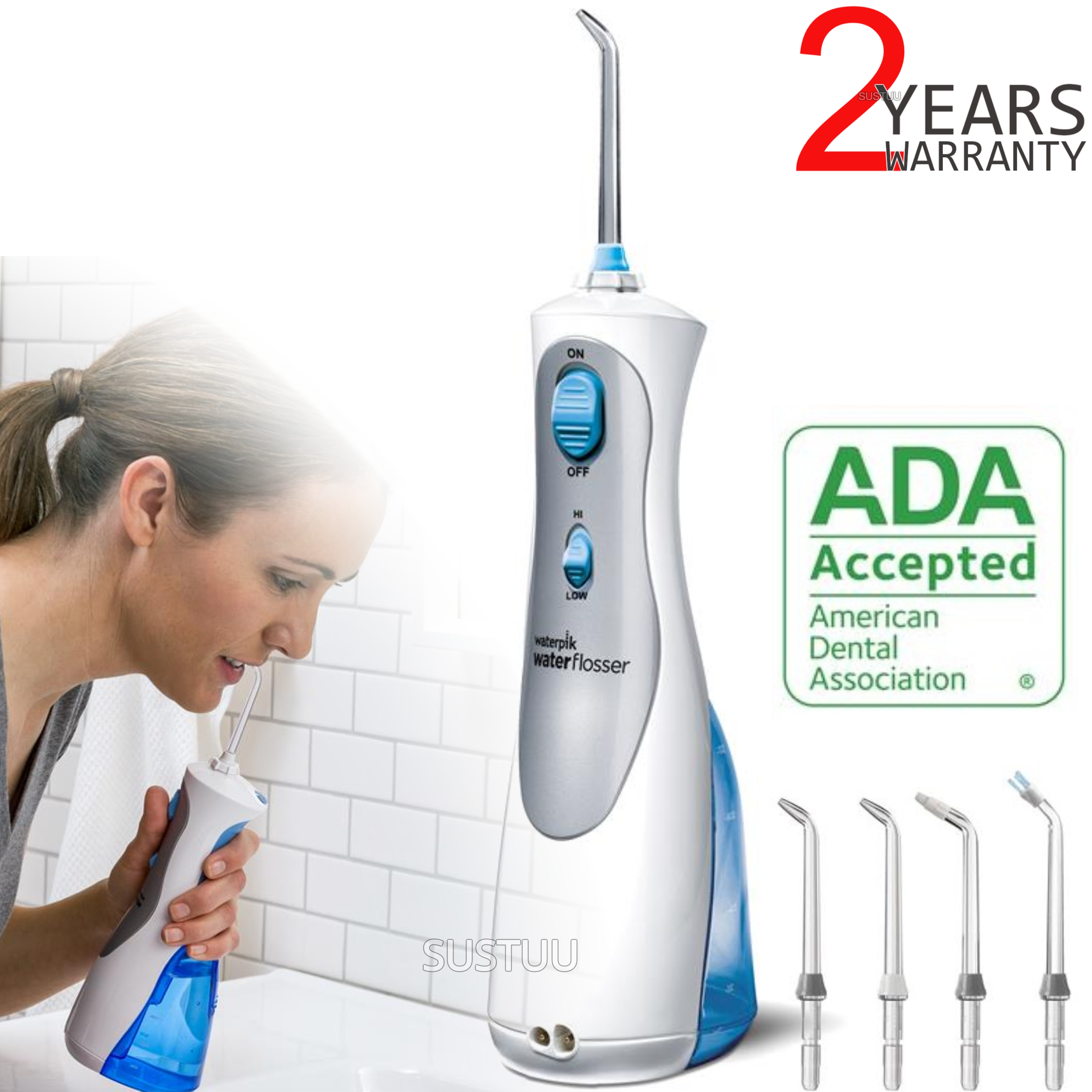 Waterpik Ultra Cordless Plus Dental Water FlosserJet | Dual Pressure Control | WP450
