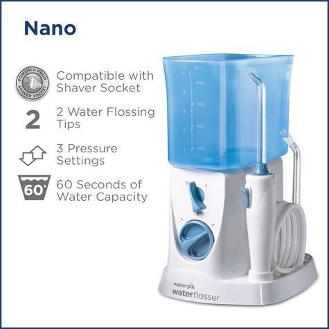 WaterPik Nano Water Jet Flosser Irrigator | 3 Pressure Settings | Dental Care | WP250 Thumbnail 5