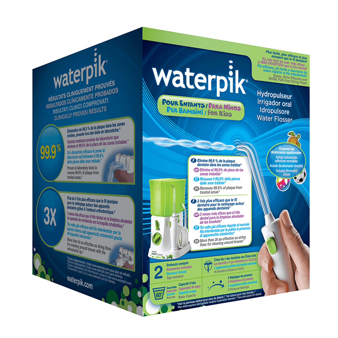 Waterpik Nano Water Flosser Jet | Maximum Flossing Convenience | Kids Oral Care | WP260