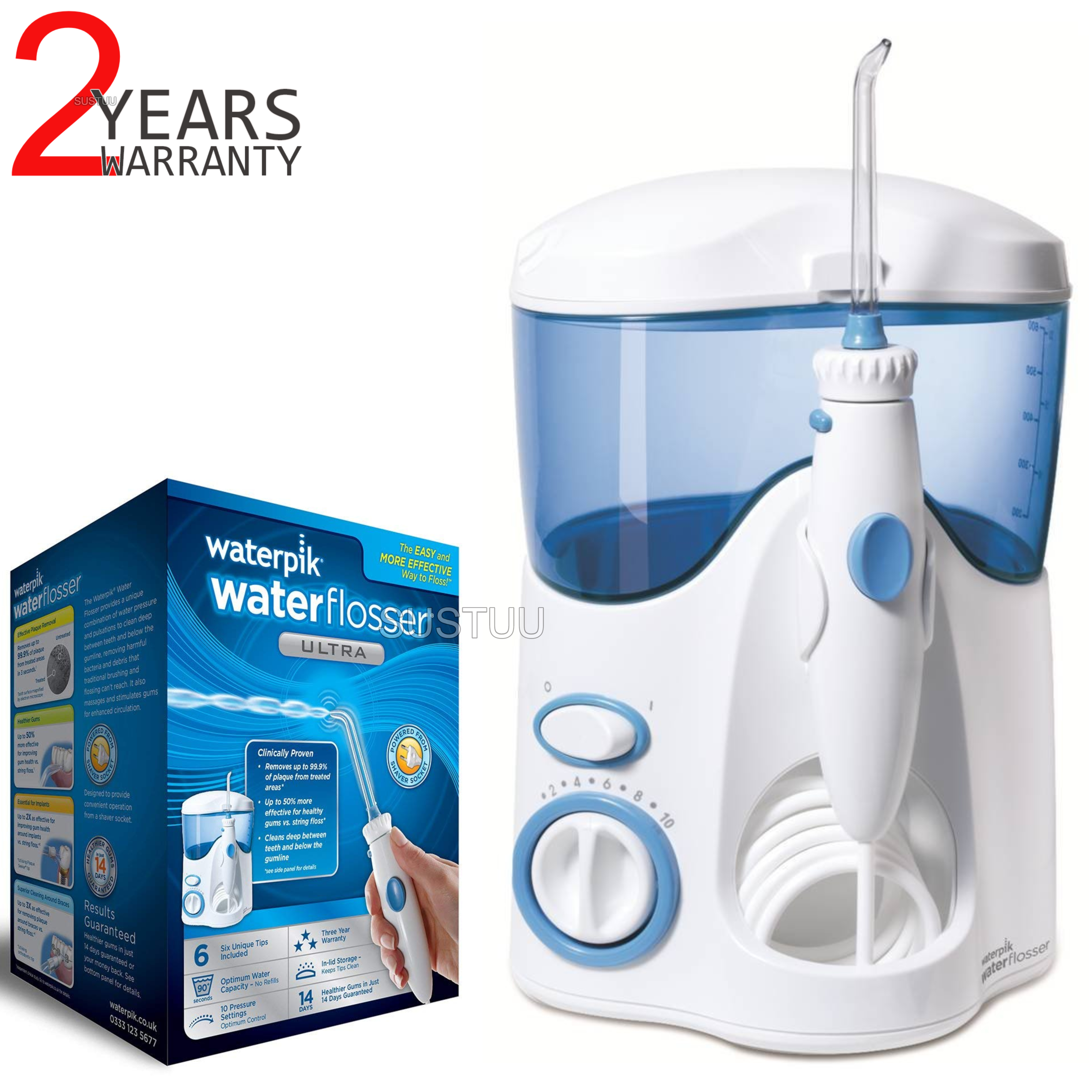 Waterpik Ultra Dental Water Flosser | Oral Teeth Flossing Device | Mains Power | WP120