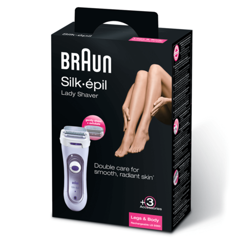 Braun Silk-épil Lady Body Foil Shaver | Cordless Rechargeable | 3 Attachments | LS5560 Thumbnail 4