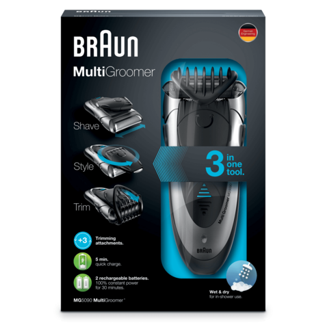 Braun Men's Multi Groomer | Shaver Styler & Beard Trimmer | Wet & Dry | 3 in 1 | MG5090 Thumbnail 4