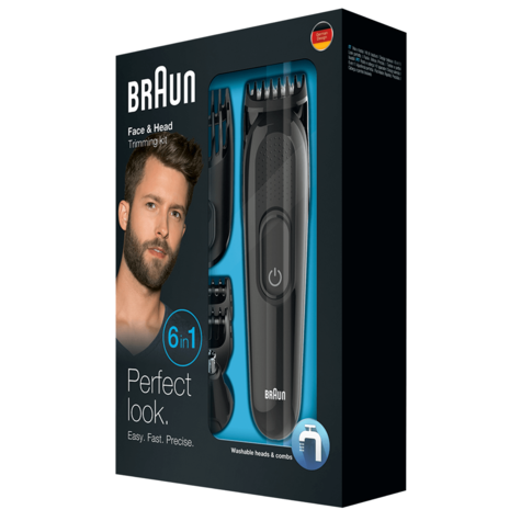 Braun Multi Groom Face & Head Precision Kit | Beard & Hair Trimmer | 6 in 1 | MGK3020 Thumbnail 3