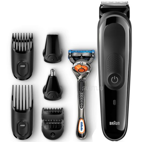 Braun Multi Groom Face & Head Kit | Beard & Hair Precision Trimming | 8 in 1 | MGK3060 Thumbnail 1