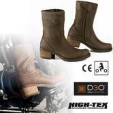 Falco Ayda Motorcycle Heel Boots|Removable Gear Pad|Waterproof|CE Approved|Brown