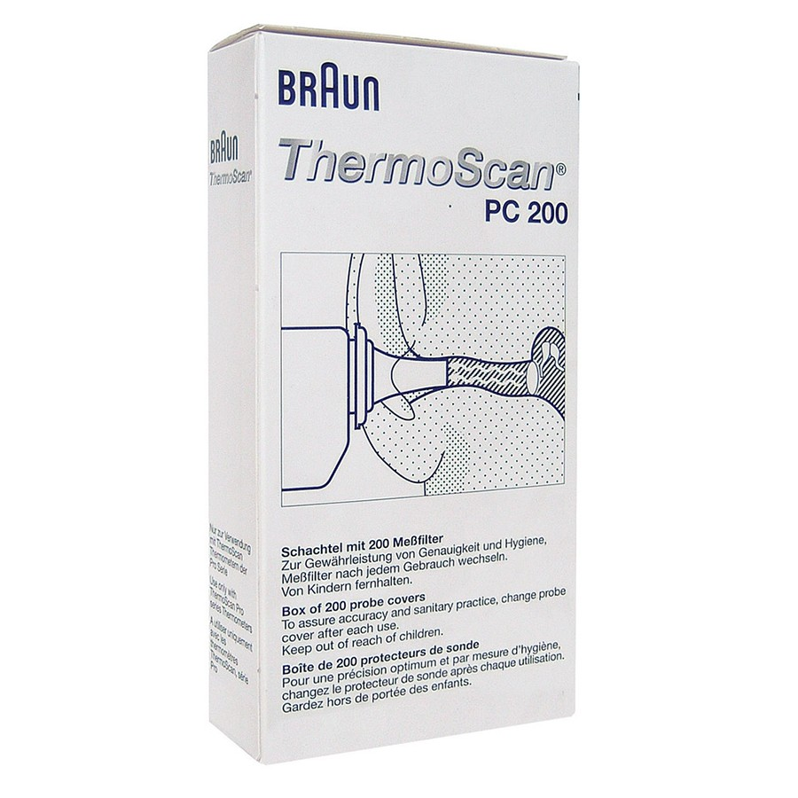 Braun ThermoScan Replacement Lens Filters Caps (Pack of 200 Probe ...