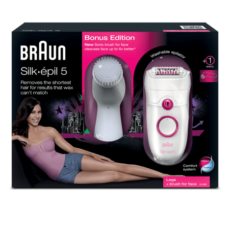 Braun Silk-épil 5 Epilator | Cooling Glove & Facial Exfoliation Sonic Brush | SE5329 Thumbnail 4