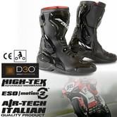 Falco Fenix Motorcycle Boots|CE Approve|Waterproof|Zinc Slider|Rubber Sole Shoes